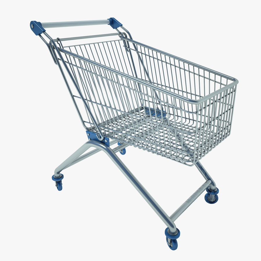 Trolley Supermarket 01 royalty-free 3d model - Preview no. 1