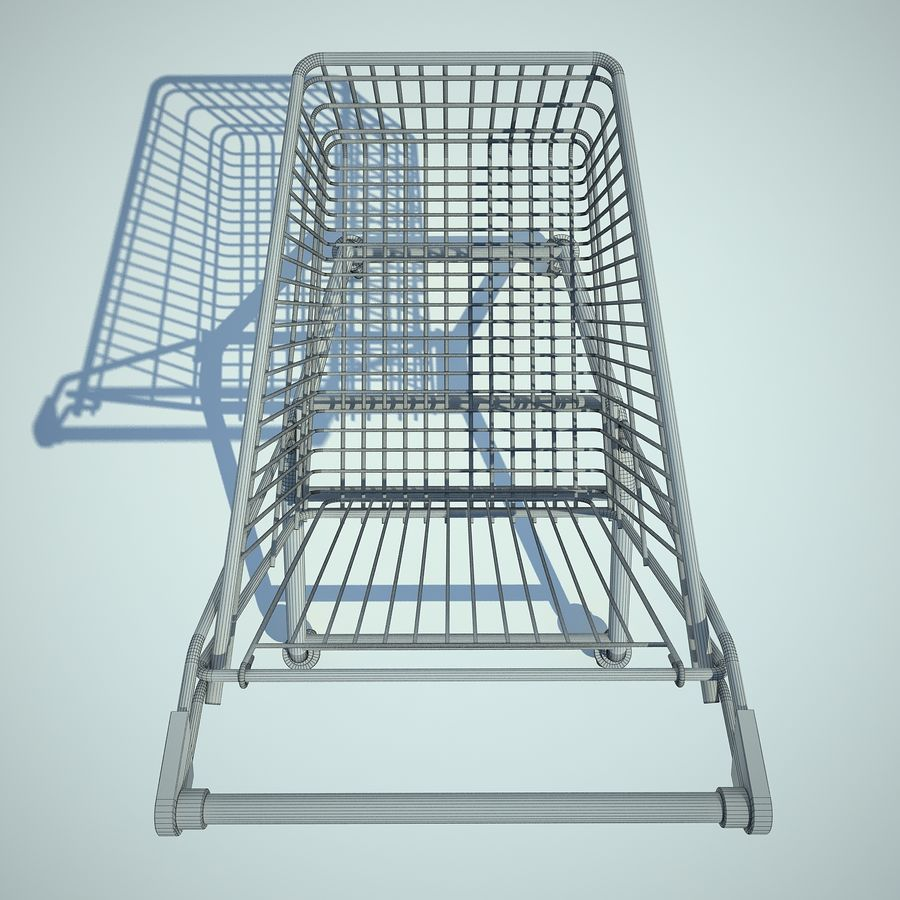 Trolley Supermarket 01 royalty-free 3d model - Preview no. 10