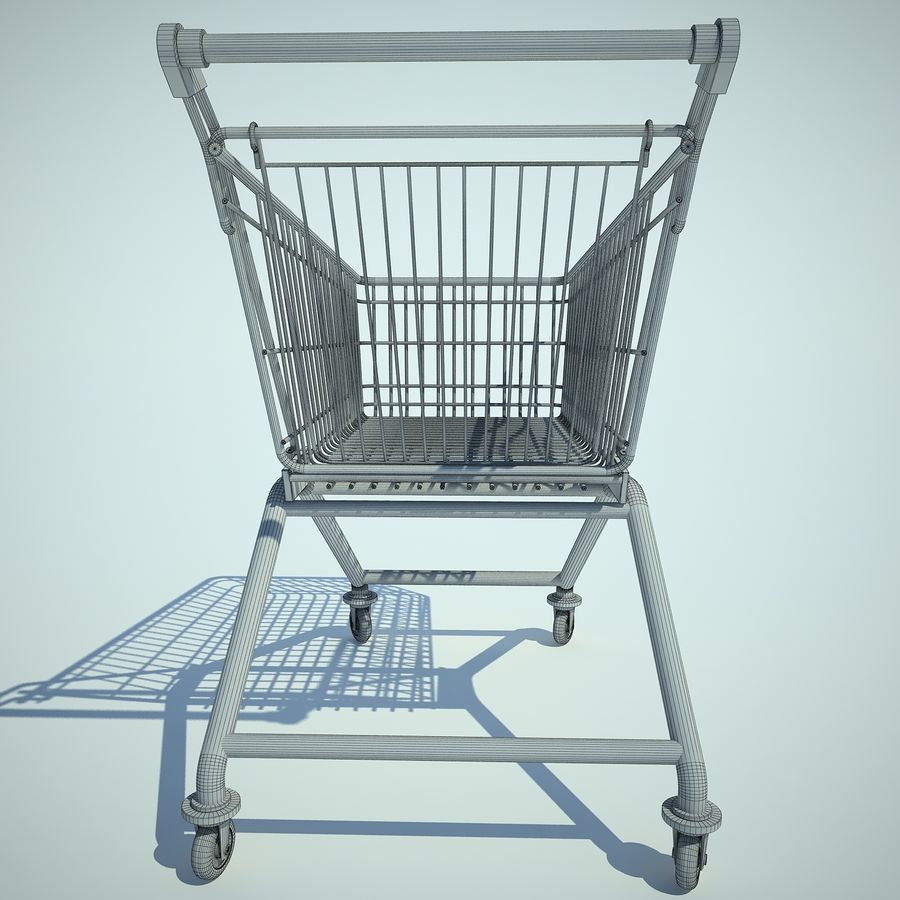 Trolley Supermarket 01 royalty-free 3d model - Preview no. 9