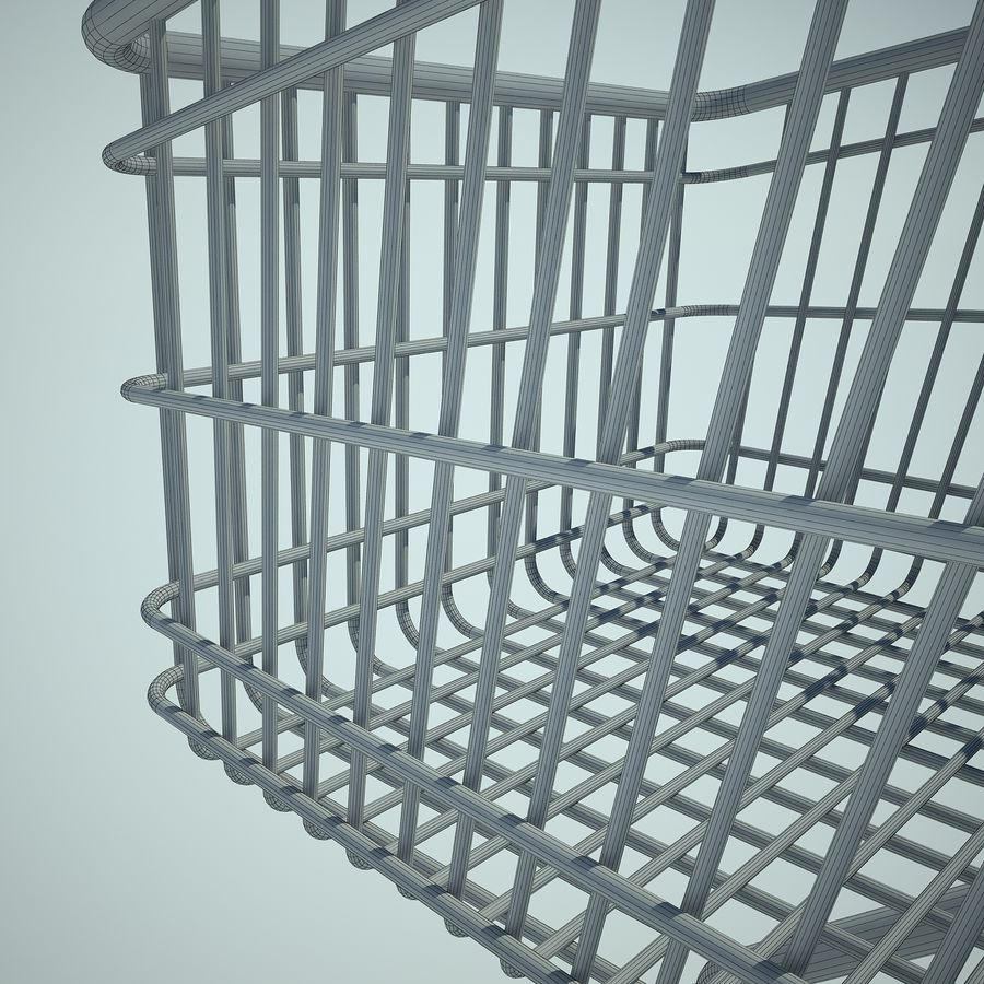 Trolley Supermarket 01 royalty-free 3d model - Preview no. 14
