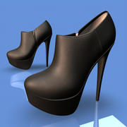 Ankle High Heel Boots 3d model