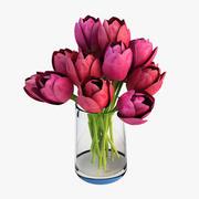 Vase tulipe 3d model