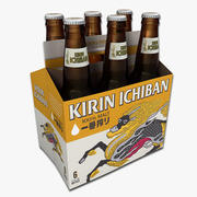 Six Pack of Kirin Beer 3d model