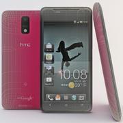 HTC J Red modelo 3d