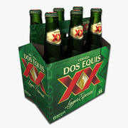 Six Pack of Dos Equis Beer 3d model