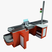 Checkout Counter 02 3d model