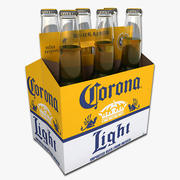 Six Pack of Corona Light Beer 3d model