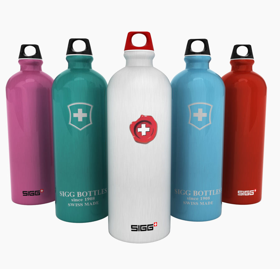 Sigg Water Bottle royalty-free 3d model - Preview no. 1