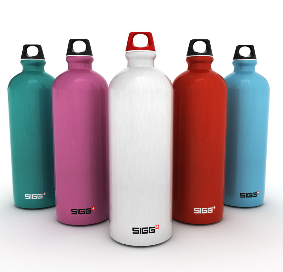 Sigg Water Bottle royalty-free 3d model - Preview no. 3