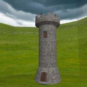 中世纪塔 3d model