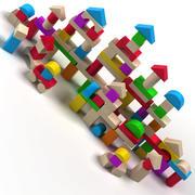Toy Wood Block 3d model