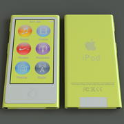 IPod Nano Generation 7. Gelb 3d model