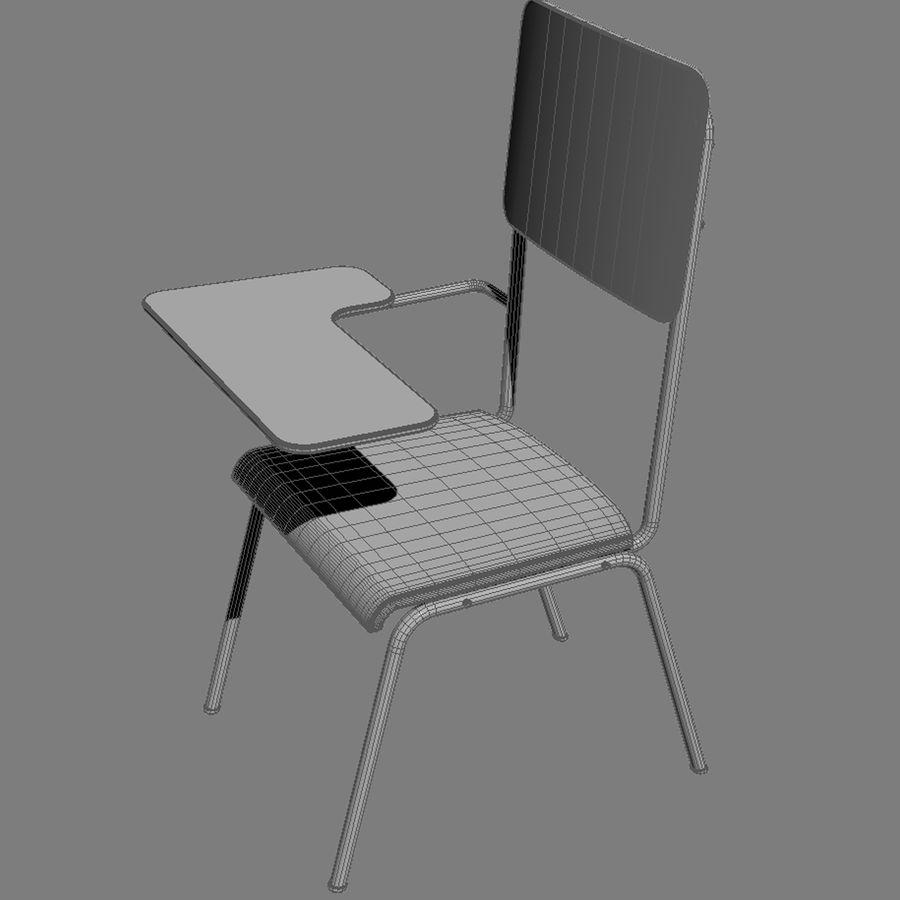 教室の椅子 royalty-free 3d model - Preview no. 5