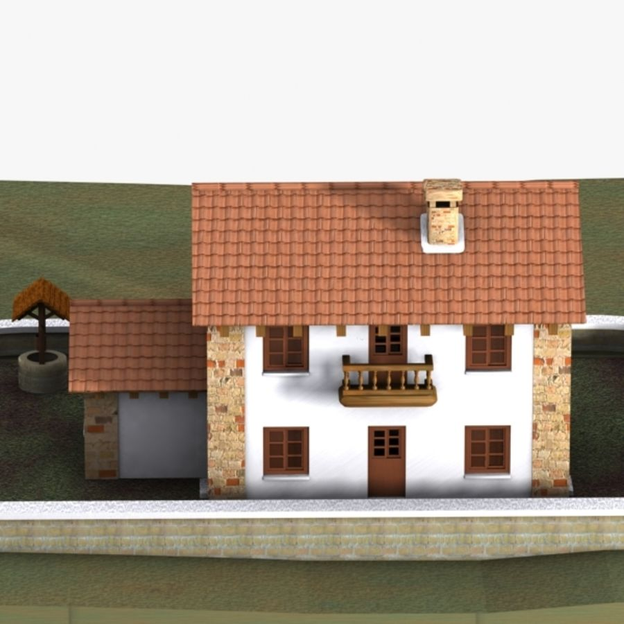 Authentic House Cottage 1 royalty-free 3d model - Preview no. 6
