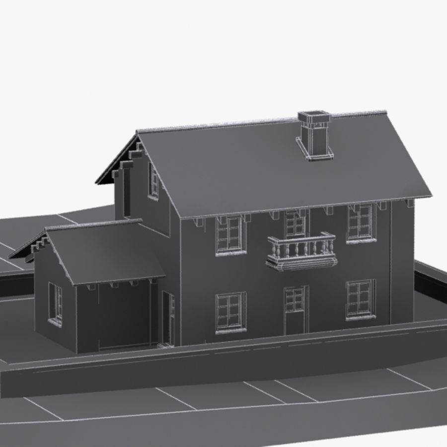 Authentic House Cottage 1 royalty-free 3d model - Preview no. 13