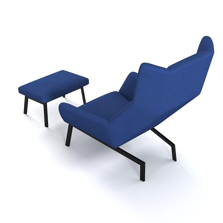 Bensen Park Lounge Chair & Ottoman royalty-free 3d model - Preview no. 1