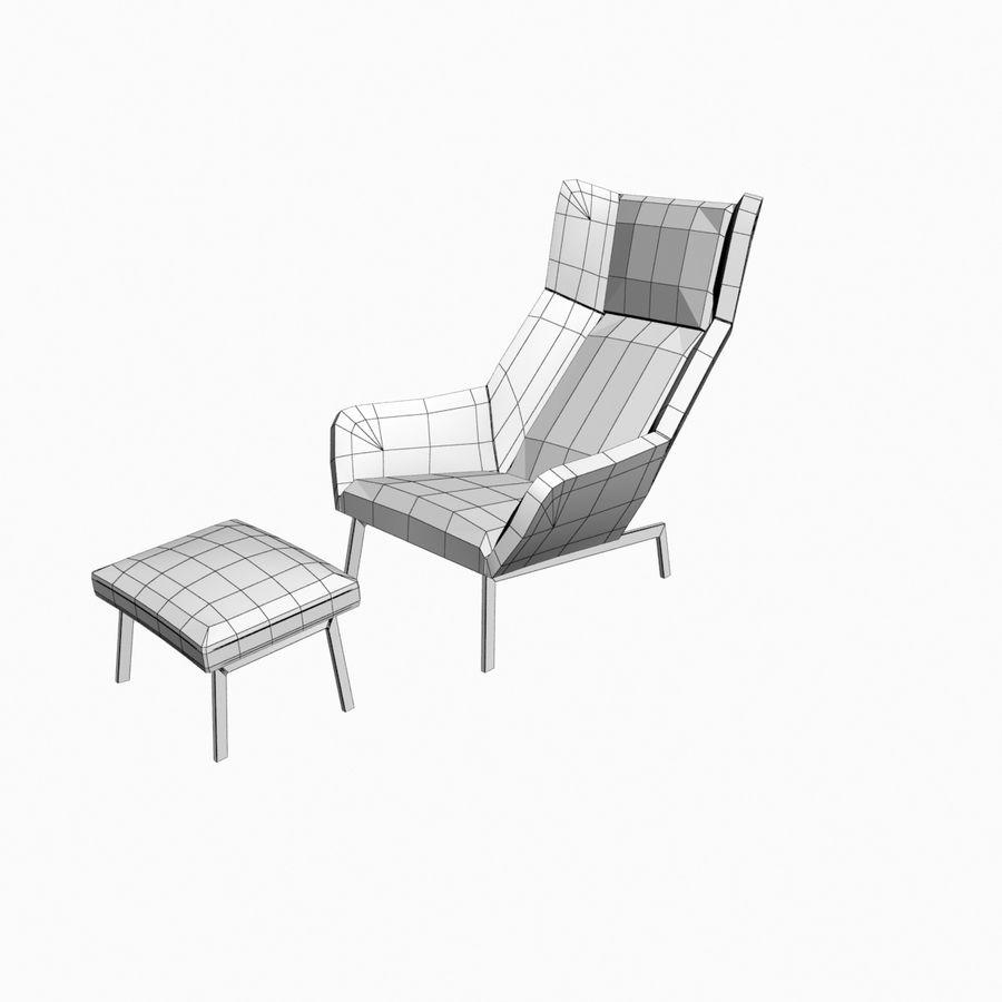 Bensen Park Lounge Chair & Ottoman royalty-free 3d model - Preview no. 5