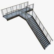 금속 계단 3d model