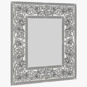 Spegel med druvor och löv 3d model