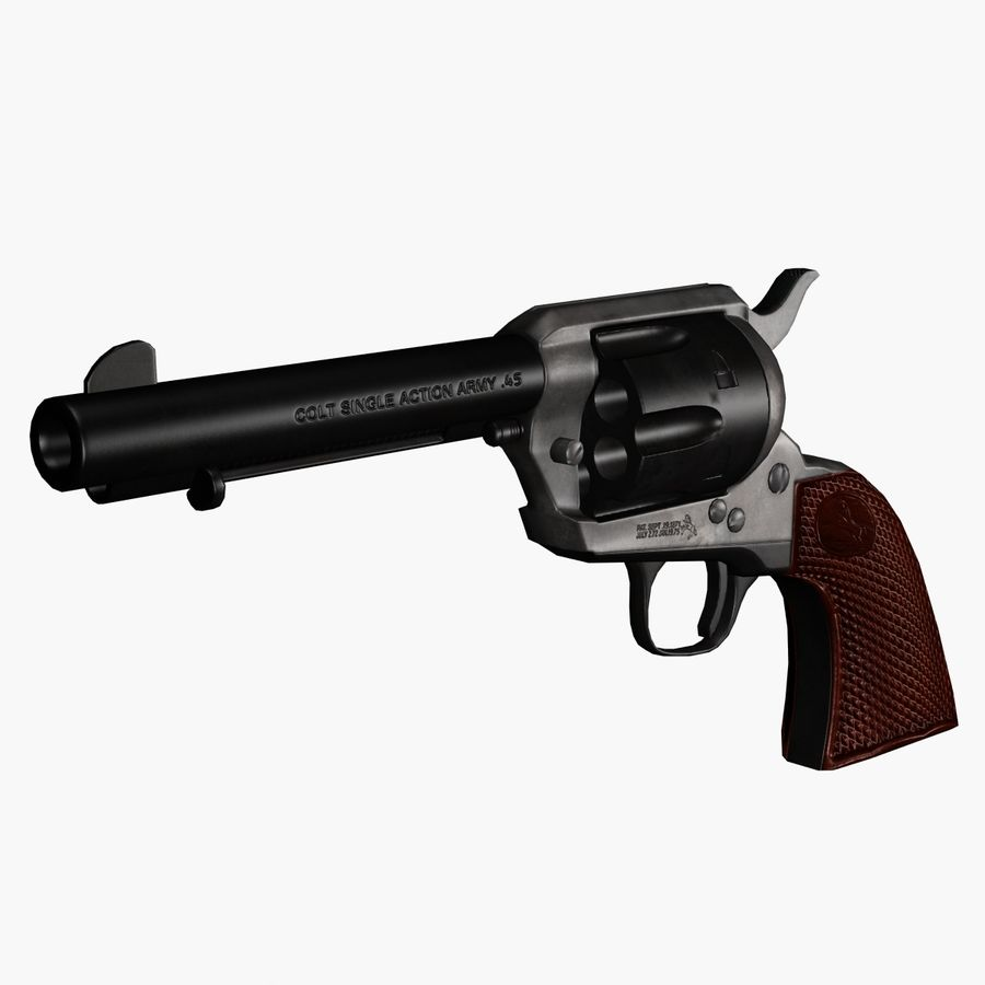 Colt .45单动左轮手枪 royalty-free 3d model - Preview no. 3