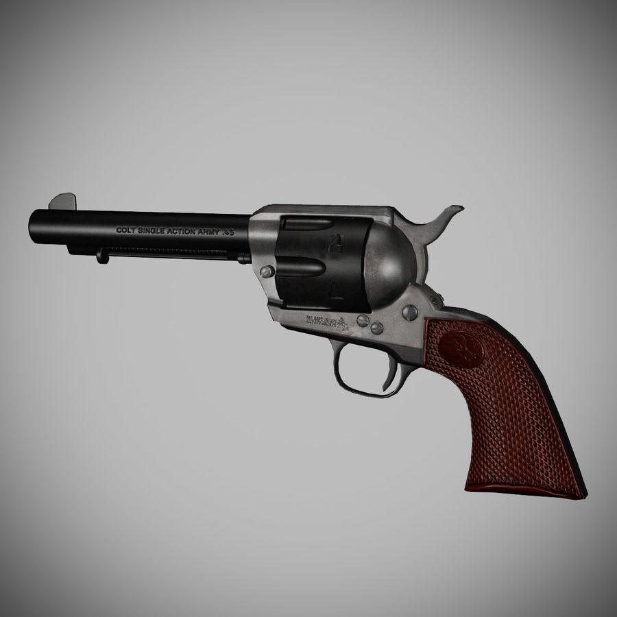 Colt .45单动左轮手枪 royalty-free 3d model - Preview no. 2