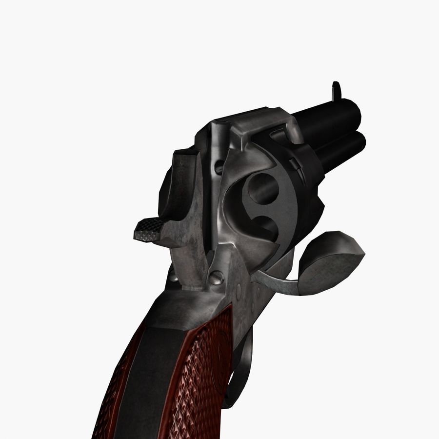 Colt .45 Single Action Revolver royalty-free 3d model - Preview no. 6