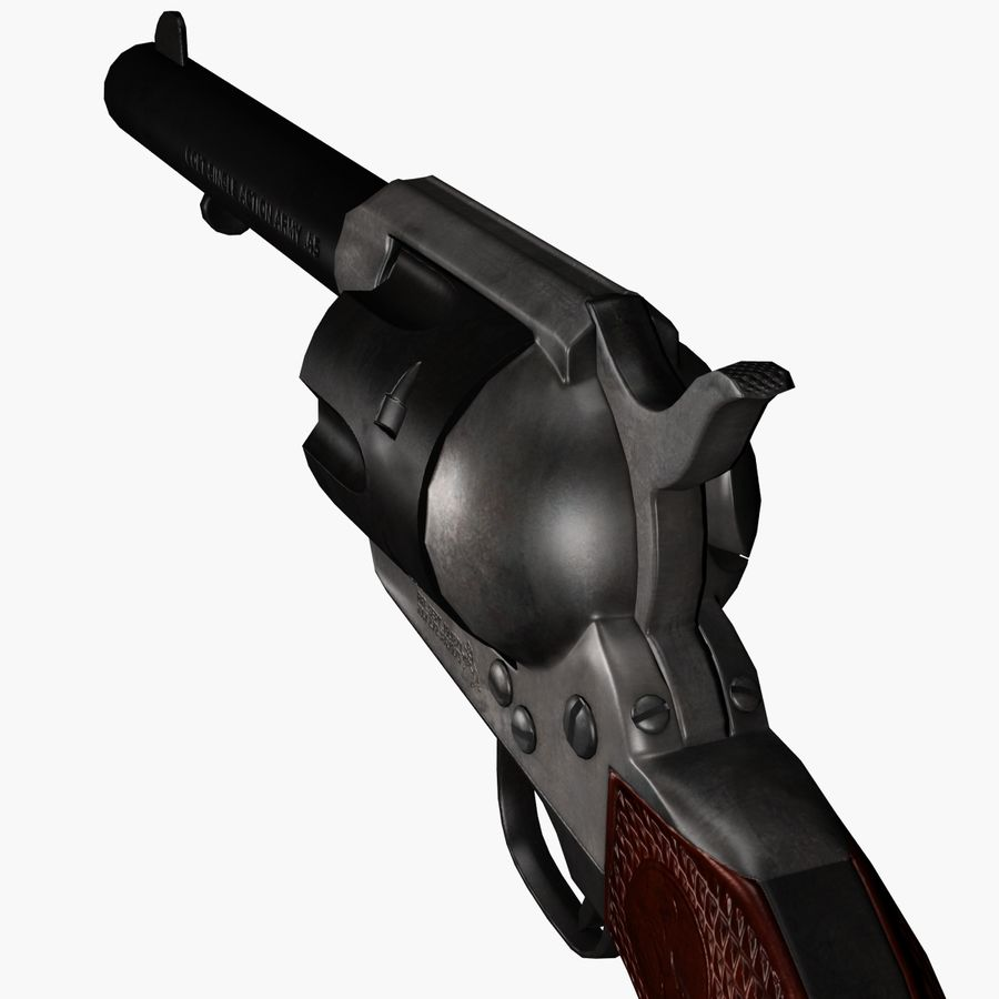 Colt .45 Single Action Revolver royalty-free 3d model - Preview no. 2