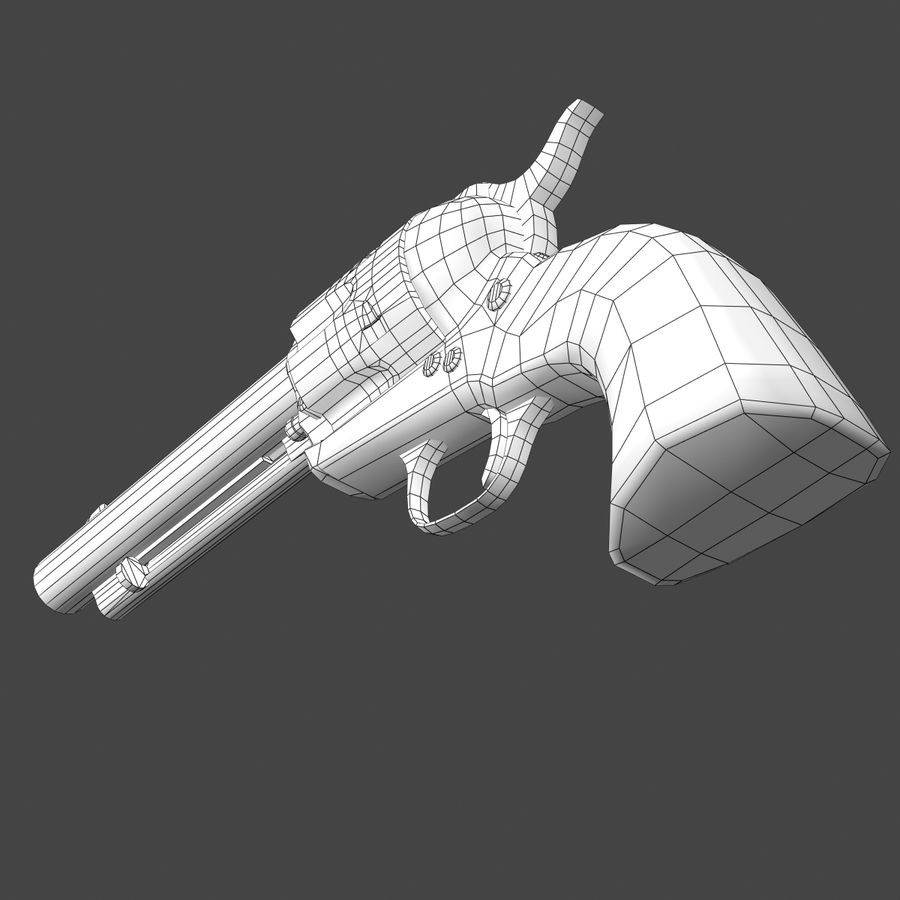 Colt .45单动左轮手枪 royalty-free 3d model - Preview no. 9