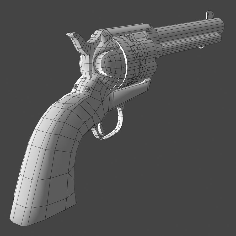 Colt .45 Single Action Revolver royalty-free 3d model - Preview no. 10