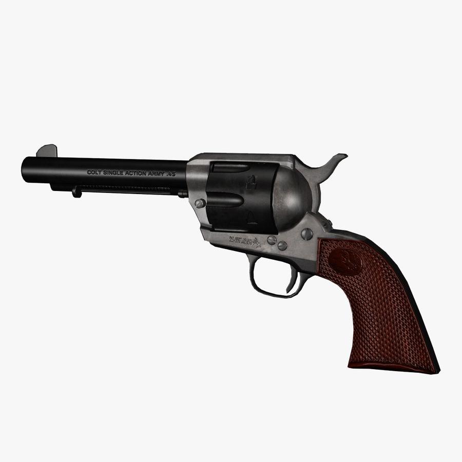Colt .45单动左轮手枪 royalty-free 3d model - Preview no. 1