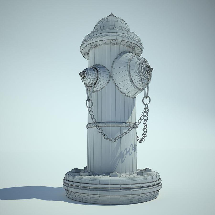 Fire Hydrant czerwony royalty-free 3d model - Preview no. 5