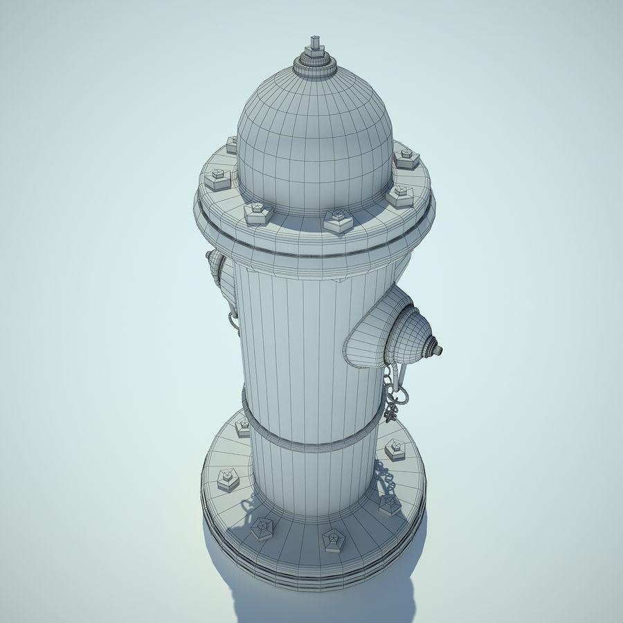 Fire Hydrant czerwony royalty-free 3d model - Preview no. 10