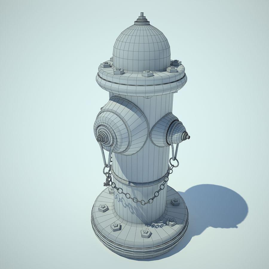 Fire Hydrant czerwony royalty-free 3d model - Preview no. 3