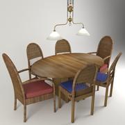 Stół do jadalni Vray 3d model