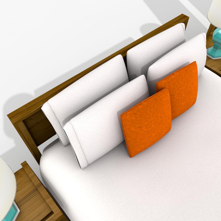 Slaapkamer set royalty-free 3d model - Preview no. 19