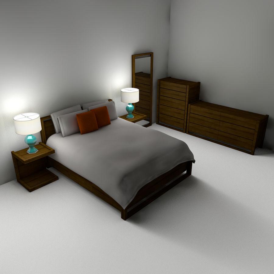 Slaapkamer set royalty-free 3d model - Preview no. 3