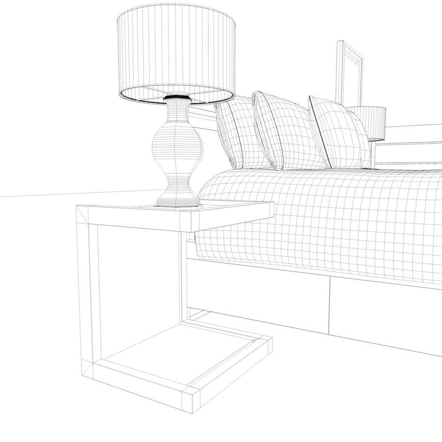 Slaapkamer set royalty-free 3d model - Preview no. 23