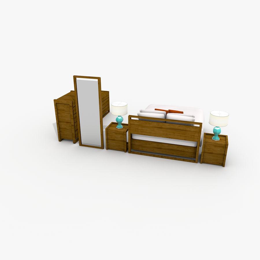 Slaapkamer set royalty-free 3d model - Preview no. 8