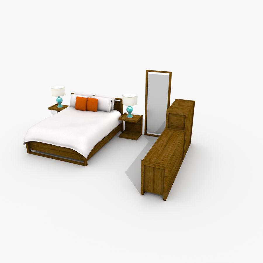 Slaapkamer set royalty-free 3d model - Preview no. 14