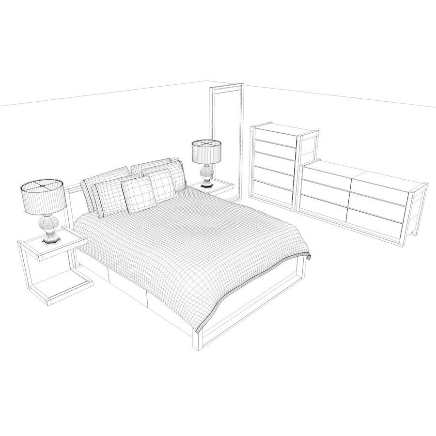 Slaapkamer set royalty-free 3d model - Preview no. 22