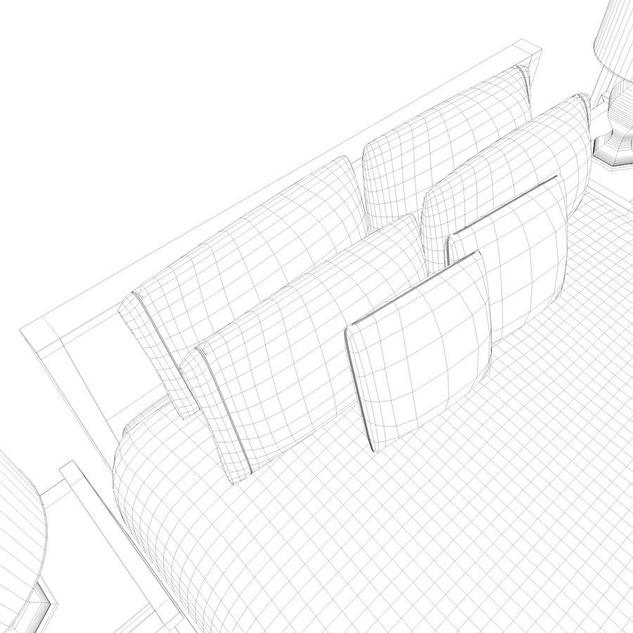 Slaapkamer set royalty-free 3d model - Preview no. 21