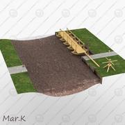 폰툰 다리 3d model