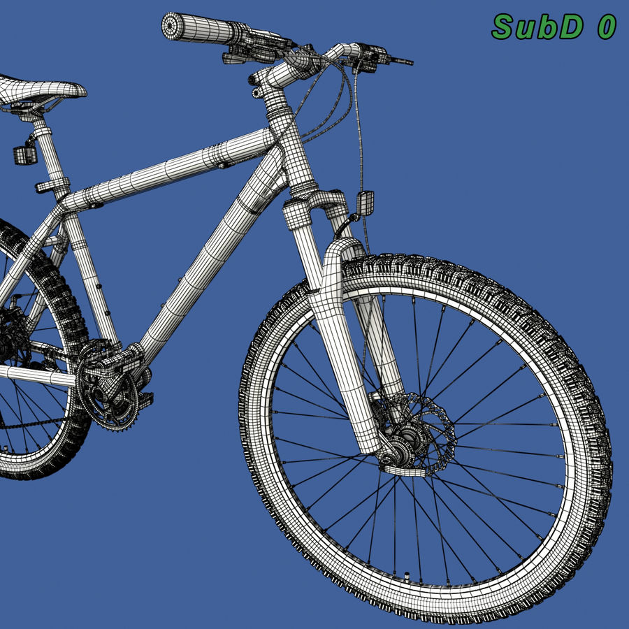 Mountainbike royalty-free 3d model - Preview no. 21
