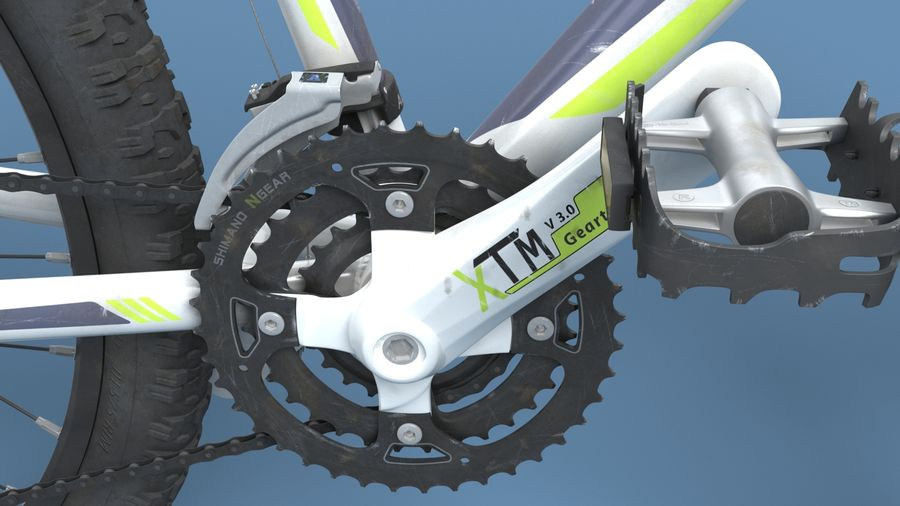 Mountainbike royalty-free 3d model - Preview no. 25