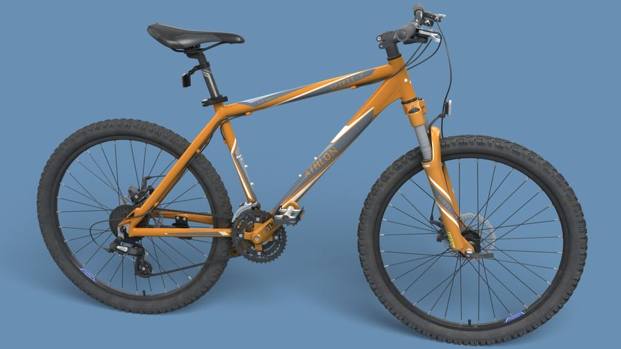 Mountainbike royalty-free 3d model - Preview no. 11