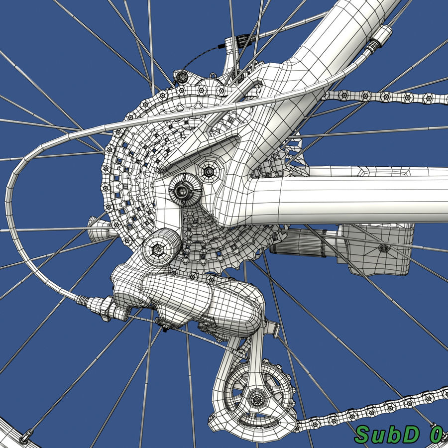 Mountainbike royalty-free 3d model - Preview no. 23