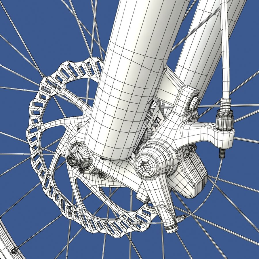 Mountainbike royalty-free 3d model - Preview no. 20