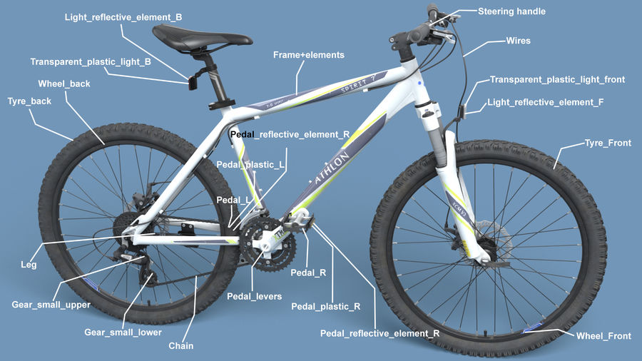 Mountainbike royalty-free 3d model - Preview no. 30