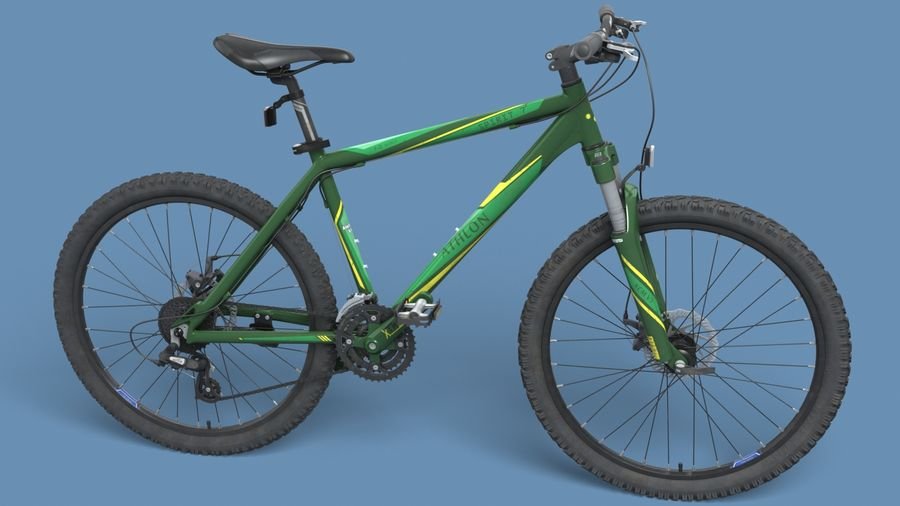 Mountainbike royalty-free 3d model - Preview no. 9