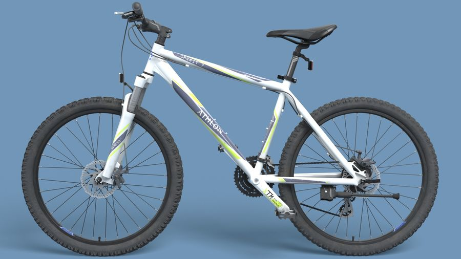 Mountainbike royalty-free 3d model - Preview no. 4